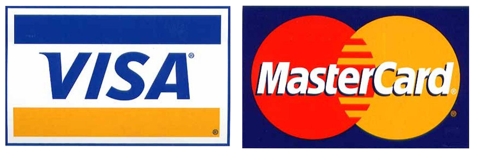MasterCard credit cards and Visa If you apply for both